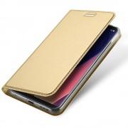 Slim flip cover med lomme guld LG V30 Mobilcovers