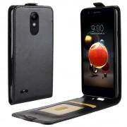 sort Vertikal flip cover LG K8 / K9 (2018) Mobil tilbehør
