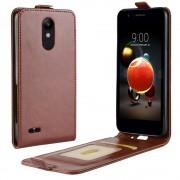 brun Vertikal flip cover LG K8 / K9 (2018) Mobil tilbehør