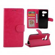 LG NEXUS 5X cover etui med kort lommer rosa Leveso Mobil tilbehør
