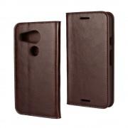 LG NEXUS 5X cover etui med kort lommer brun Leveso Mobil tilbehør