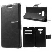 LG G5 læder cover med lommer, sort Mobiltelefon tilbehør