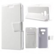 LG G5 læder cover med lommer, hvid Mobiltelefon tilbehør