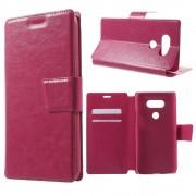 LG G5 læder cover med lommer, rosa Mobiltelefon tilbehør