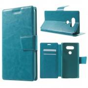 LG G5 læder cover med lommer blå Mobiltelefon tilbehør