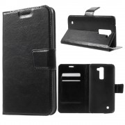 LG K10 cover m kort lommer sort Mobiltelefon tilbehør