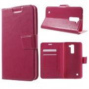 LG K10 cover m kort lommer rosa Mobiltelefon tilbehør
