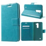 LG K10 cover m kort lommer blå Mobiltelefon tilbehør