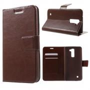 LG K10 cover m kort lommer brun Mobiltelefon tilbehør