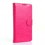 LG G5 læder pung cover, rosa Mobiltelefon tilbehør