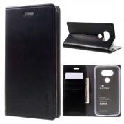 LG G5 Mercury læder pung cover, sort Mobiltelefon tilbehør