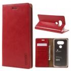 LG G5 Mercury læder pung cover, rød |  Mobiltelefon tilbehør