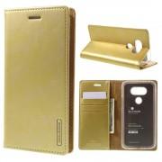 LG G5 Mercury læder pung cover, guld Mobiltelefon tilbehør