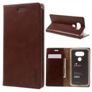 LG G5 Mercury læder pung cover, brun Mobiltelefon tilbehør