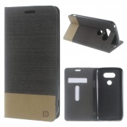 LG G5 dual line læder cover mocca