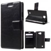 LG K4 læder cover med lommer sort, Mobiltelefon tilbehør