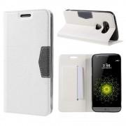 LG G5 line læder cover hvid, Mobiltelefon tilbehør