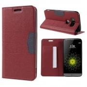 LG G5 line læder cover rød, Mobiltelefon tilbehør