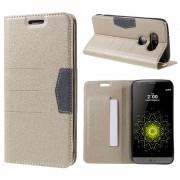 LG G5 line læder cover champagne, Mobiltelefon tilbehør
