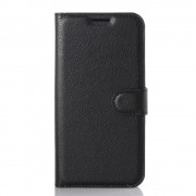 LG K4 cover - etui m lommer w-line sort Mobiltelefon tilbehør