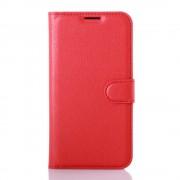 LG K4 cover - etui m lommer w-line rød Mobiltelefon tilbehør
