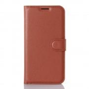 LG K4 cover - etui m lommer w-line brun Mobiltelefon tilbehør