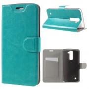 LG K8 læder cover med lomme blå, Mobiltelefon tilbehør