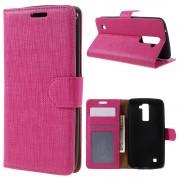 LG K10 cover med lommer rosa Mobiltelefon tilbehør Leveso.dk