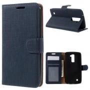 Til LG K10 cover med lommer blå Mobiltelefon tilbehør