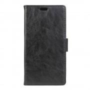 LG K8 læder cover med kort lommer sort, Mobiltelefon tilbehør
