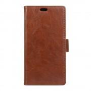 LG K8 læder cover med kort lommer brun, Mobiltelefon tilbehør