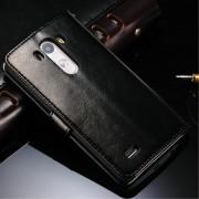 LG G3 cover wax med lommer sort Mobiltelefon tilbehør