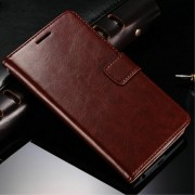 LG G3 cover wax med lommer brun Mobiltelefon tilbehør