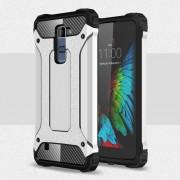 Til LG K10 cover Armor Guard sølv Mobiltelefon tilbehør