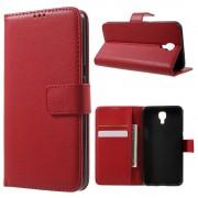 LG X Screen rød etui cover med lommer Mobiltelefon tilbehør
