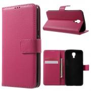 Til LG X Screen etui rosa med lommer Leveso.dk Mobiltelefon tilbehør