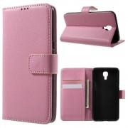 LG X Screen pink pung etui med lommer Mobiltelefon tilbehør