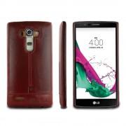 Til LG G4 rød cover Pierre Cardin design læder Mobiltelefon tilbehør
