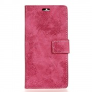 LG K8 2017 cover i retro design rosa Mobilcovers