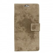 LG K8 2017 cover i retro design khaki Mobilcovers