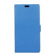 LG K8 2017 flip cover med lommer blå Mobilcovers