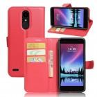 LG K10 2017 klassisk flip cover rød Mobilcovers
