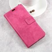 LG K10 2017 flip cover i retro stil rosa Mobilcover
