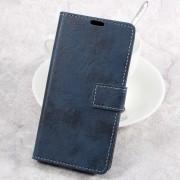 til LG K10 2017 flip cover i retro stil blå Mobilcover