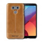 LG G6 cover Pierre Cardin ægte læder brun Mobilcovers