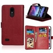LG K4 2017 cover med multi lommer brun Mobilcovers