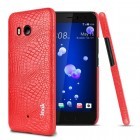 Cover case croco rød Htc U11 Mobilcovers