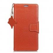 Flip cover ægte læder orange Htc U11 life Mobilcovers