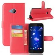 Vilo flipcover med lommer rød Htc U11 life Mobilcovers