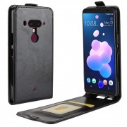 Htc U12 plus vertikal cover sort Mobil tilbehør